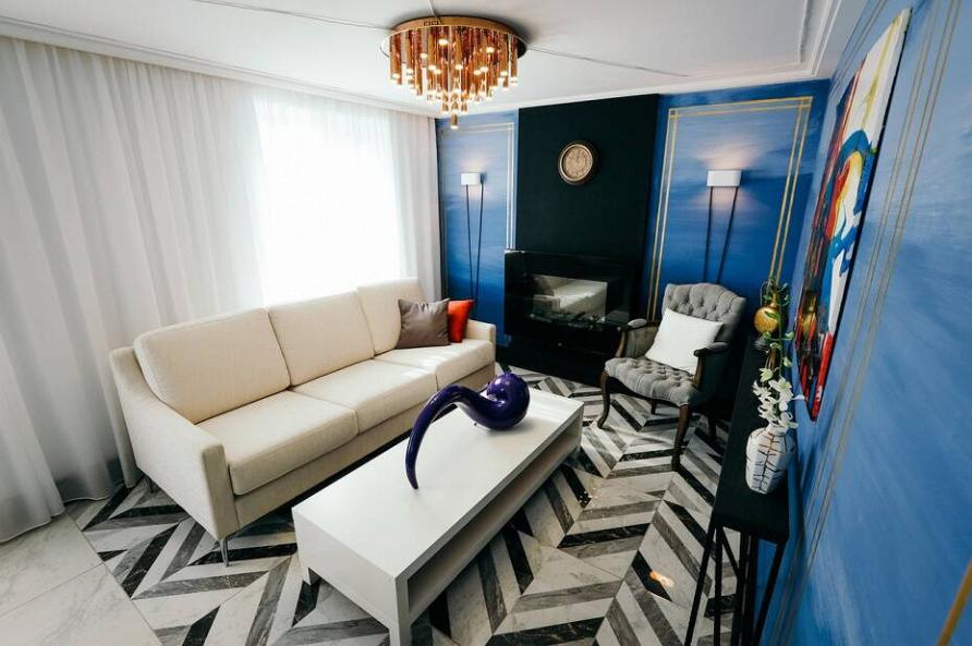 Смотрите 7 августа в передаче «Фазенда» проект «Неоклассическая гостиная» при участии Cosmorelax