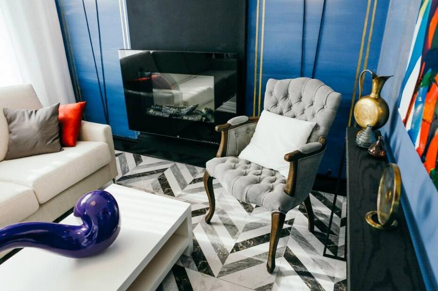 «Фазенда»: проект «Неоклассическая гостиная» при участии Cosmorelax