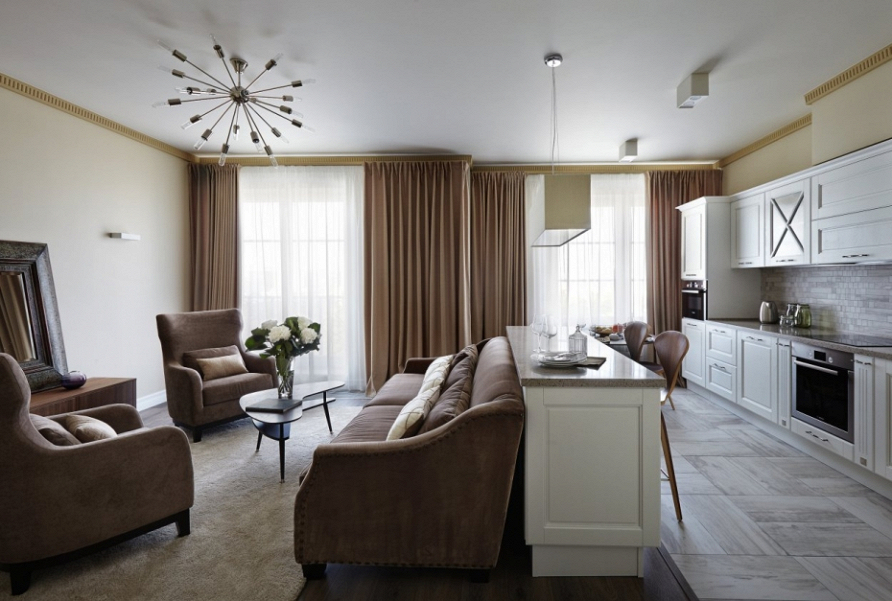 Проект квартиры в современном стиле «Английский квартал №3» при участии Cosmorelax