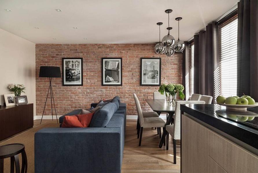 Проект квартиры в современном стиле «Лаконичность в линиях» при участии Cosmorelax