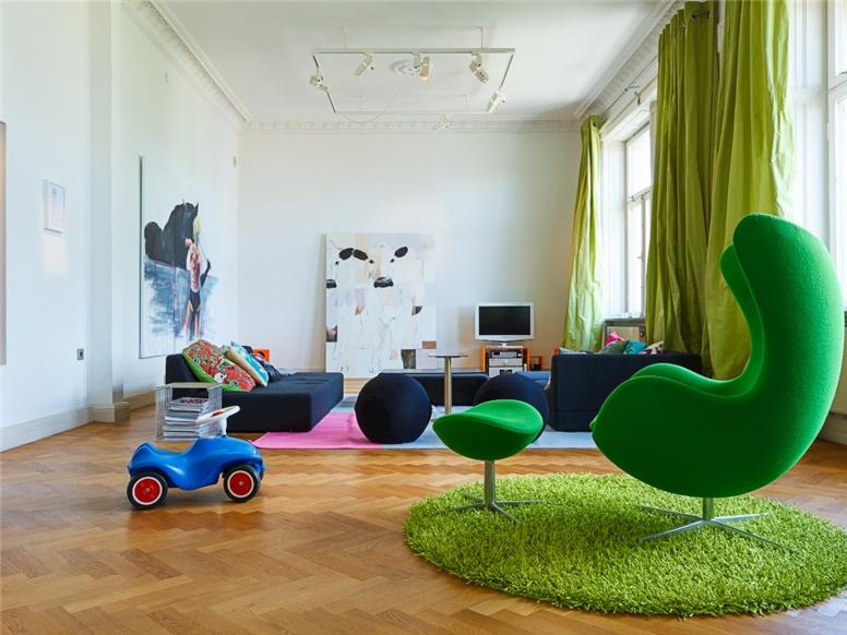 9 интерьеров с зелёными акцентами