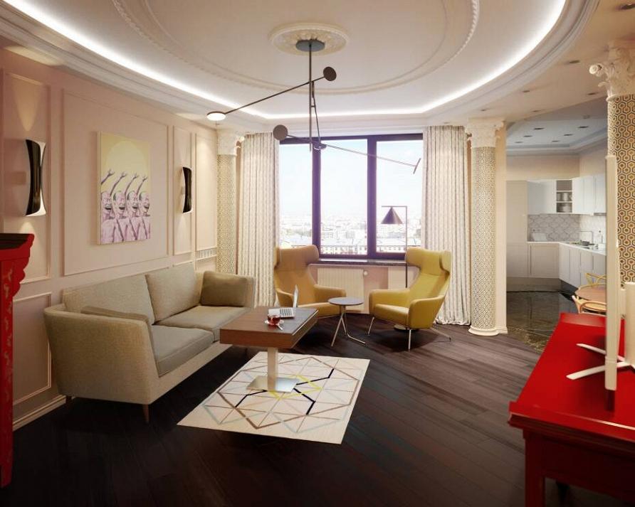 Дизайн-проект квартиры в эклектичном стиле при участии Cosmorelax