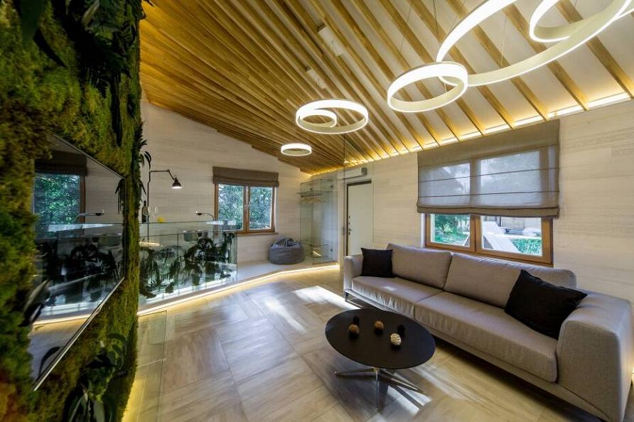 «Дачный ответ»: Проект «Гостиная из стекла и мха» при участии Cosmorelax