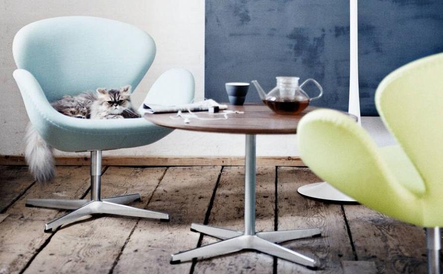 Легенды дизайна: 10 интерьеров с креслами Swan