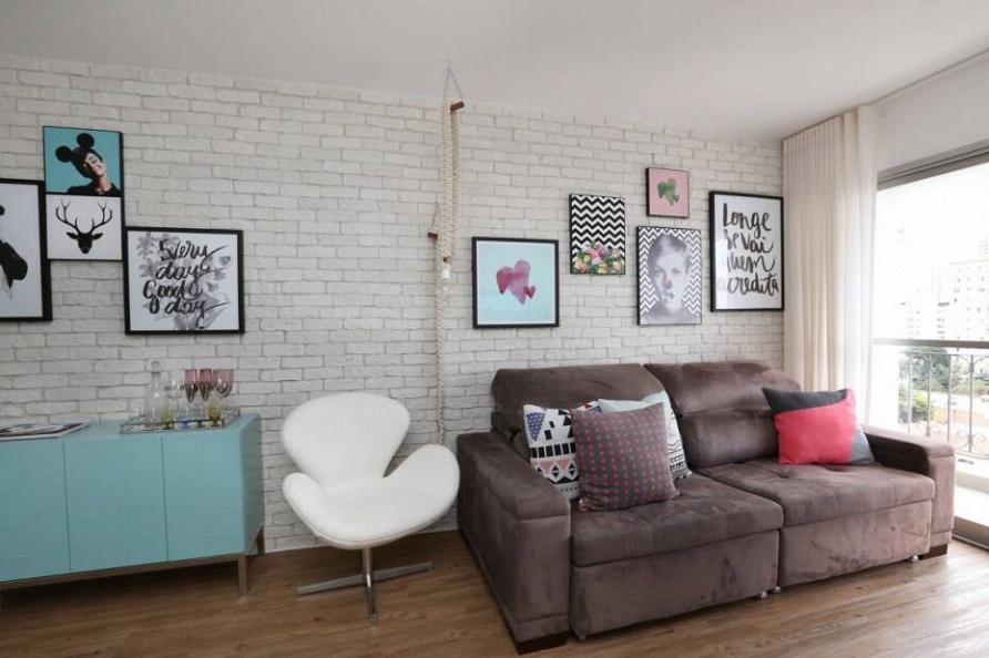 Табу на розовый: квартира для молодой женщины в Сан-Паулу