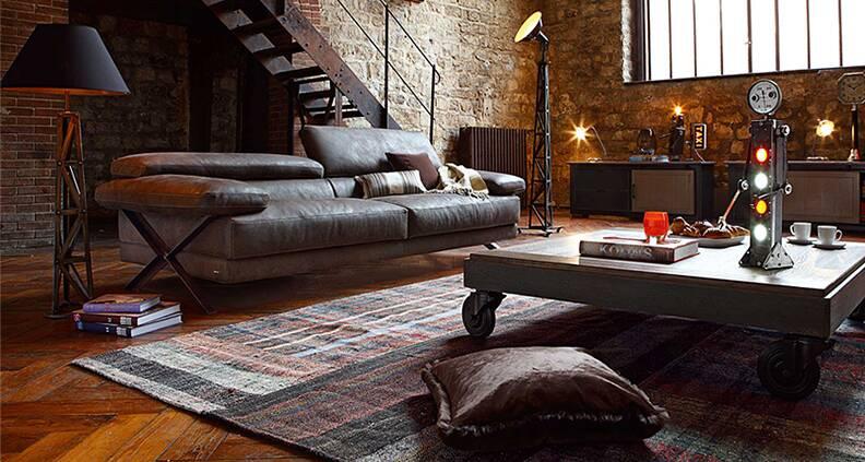 Индустриальный стиль: свобода пространства, строгие линии и сдержанные цвета