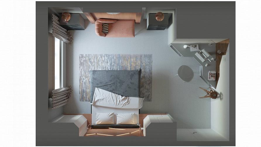 Смотрите 24 декабря проект «Спальня-оригами с парящей кроватью» при участии Cosmorelax