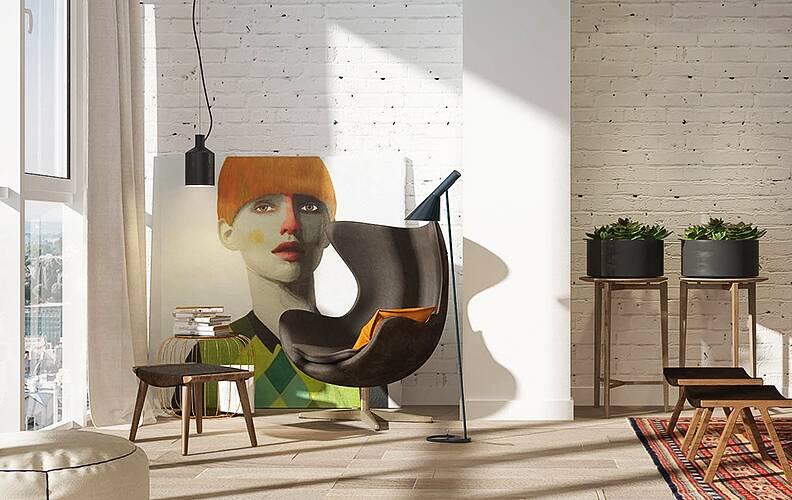 Светлая студия в Санкт-Петербурге от ART Studio Design & Construction