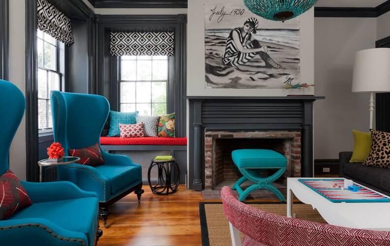 Модный тренд: бирюзовый цвет в интерьере