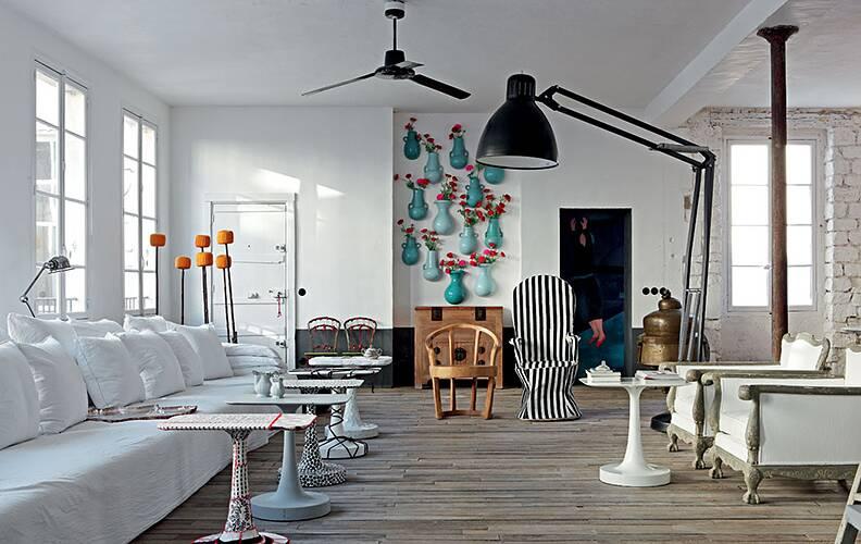 Эклектичная квартира в Париже.