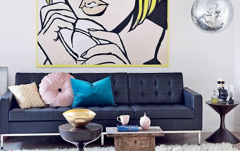Вдохновляющий поп-арт: квартира в Дании.