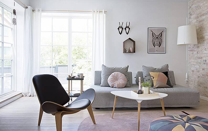 Квартира в Дании: магия пастельных оттенков