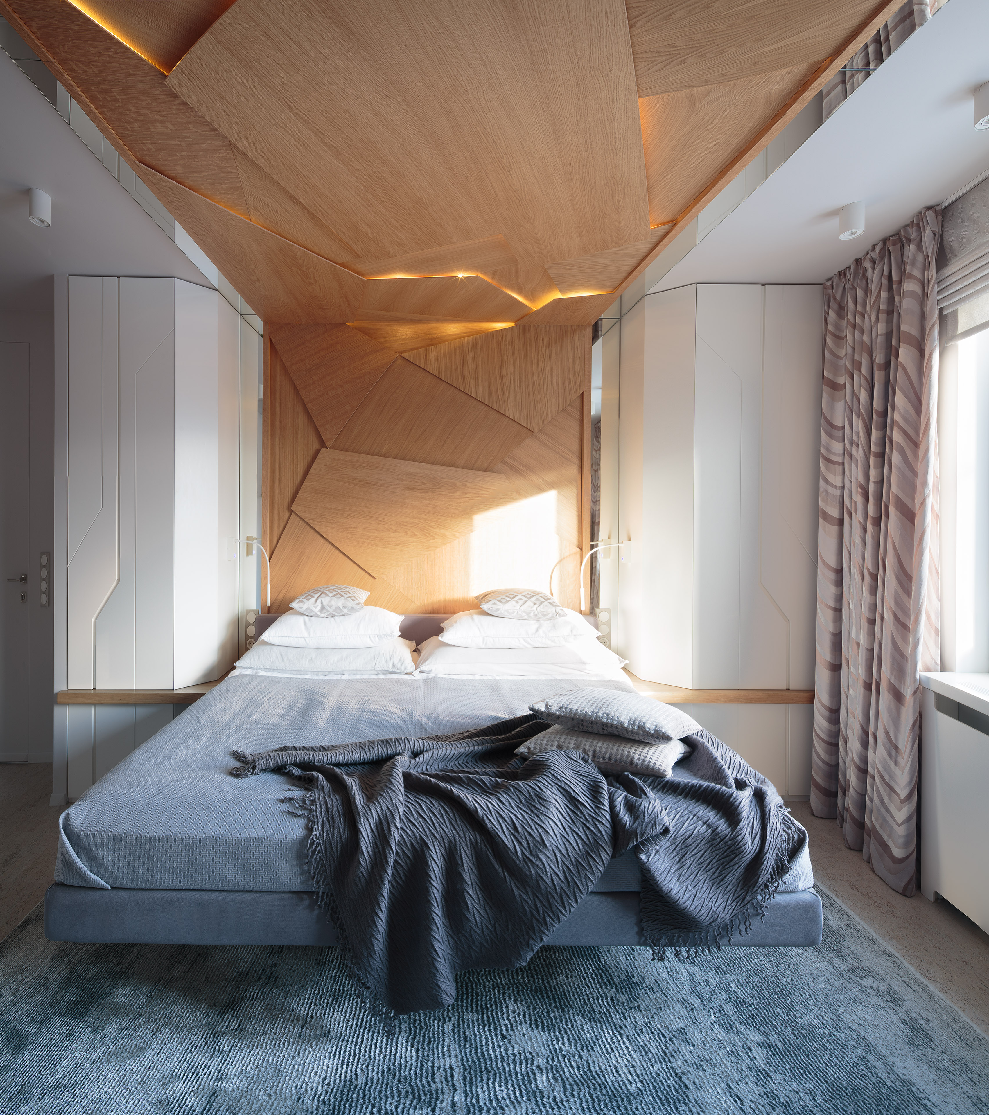 Спальня-оригами с парящей кроватью