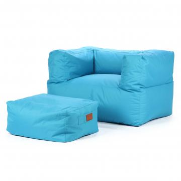 Кресло бескаркасное с пуфом Odeon