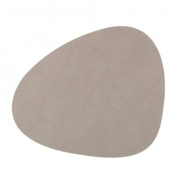 NUPO light grey подстановочная салфетка фигурная 37x44 см