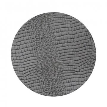 CROCO silver-black подстановочная салфетка круглая