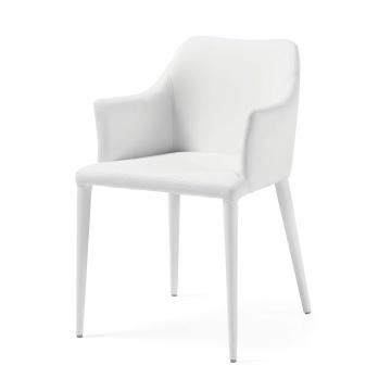 Кресло Danai белое экокожа