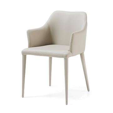 Кресло Danai светло-серое экокожа