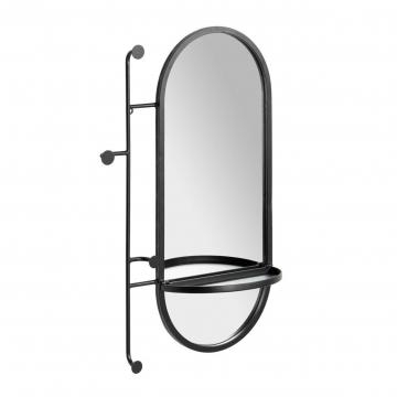 Зеркало Zada с вешалкой и полкой